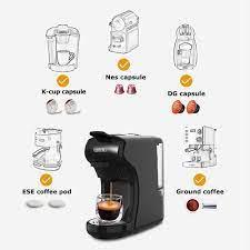 Satın almak online Hibrew 19 bar 3 in 1 & 4 1 çoklu kapsül espresso kahve  makinesi, pod kahve makinesi dolce gusto nespresso tozu h1 > Outlet /  Value-Online.cam