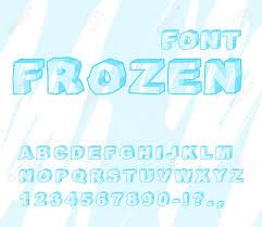Blue Letters Frozen Font Ice Alphabet Transparent Abc Cold Blue Letters