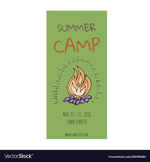 Summer Camp Flyer Template Royalty Free Vector Image