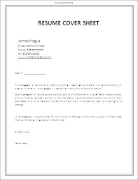 Cover Sheet For Resume Amazing Cover Page Cv Template Sheets For Resumes Sheet Resume Letter Fax