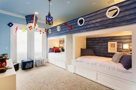 child bedroom interior design. Inspiring Image Of Cute Beach Inspired Shared Kids Bedroom Design With A Cozy Carpet 775×517.jpg Small Childrens Bedrooms Interior Decor Child E