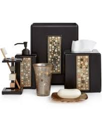 Black Bathroom Accessories Black Mosaic Bathroom Accessories