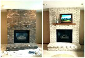 reface brick fireplace how to reface a brick fireplace cool brick fireplace renovation before and after reface brick fireplace