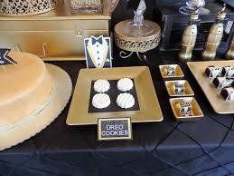 oreo cookies from a fabulous 50 black gold birthday party via kara s party ideas