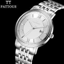 nice watch brands men promotion shop for promotional nice watch pattous mens watch brands full stainless steel date display waterproof best dress watches gifts nice wrist watch for men