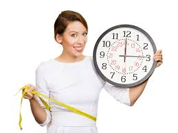 woman losing weight fast timeclock