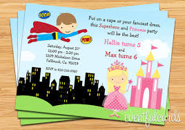 superheroes party invites superhero and princess birthday party invitation printable