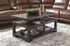 rogness lift top cocktail table in rustic brown by ashley coffee furniture x full