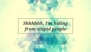 Quote Shhhhhh Im Hiding From Stupid People Poster Apagraph