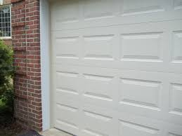 after photograph of pleted pvc trim installation of garage door frame