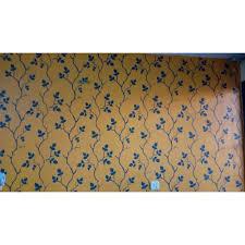 mustard wall shuffle modern stencil