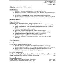 Resume Objective Kitchen Helper Oneswordnet