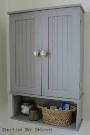 Painted Bathroom Cabinets Annie Sloan Chalk Paint Bathroom Cabinet Makeover Driven By Decor