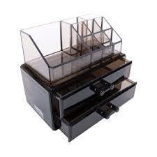 Black Acrylic Makeup Cosmetic Drawer Organizer or Jewelry Box Display  Storage Case