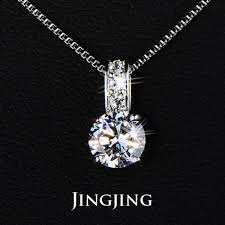 antique classic small size vintage cubic zirconia diamond pendant necklace aaa swiss zircon imitation jewelry jingjing