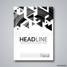 Cover Report Colorful Geometric Prospectus Design Background Cover