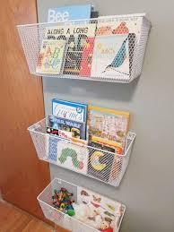 wire baskets books storage