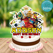 Lego Ninjago Birthday Cake Topper Template Printable DIY