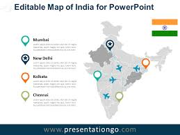 Free Interactive Maps For Powerpoint India Editable Powerpoint Map Presentationgo Com