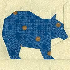 Brown Bear Quilt Block Pattern | Quilt Patterns I want | Pinterest ... & Easy Brown Bear Quilt Block Pattern for sale on etsy paper piecing Adamdwight.com