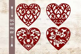 Swirls Templates Wedding Floral Swirls Hearts Laser Cut Paper Cut Templates