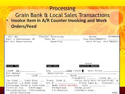 Work Invoices Custom Grain Live And Sales Live From Accounts Receivable Including End Of