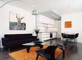 living room using black furniture