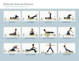 Pilates Reformer Exercise Chart Pdf Free Download Printable