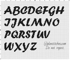 Alphabet Cross Stitch Patterns