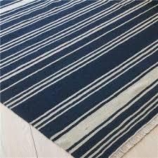 blue white striped rug blue68