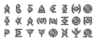 unown greek alphabet by wooded wolf