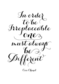 Black And White Quotes Coco Chanel Be Different Inspirational Delectable Black And White Photo Quotes