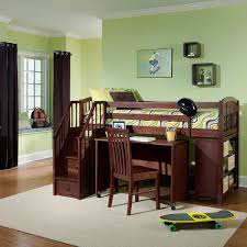 school house junior cherry loft bed with storage desk and stairs com