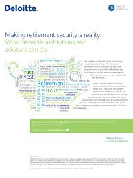 making retirement security a reality
