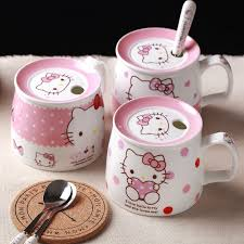 At your doorstep faster than ever. Hello Kitty Coffee Milk Mugs Cup With Lid Spoon Cute Cartoon Mug Morning Cups Ceramic Home Breakfast Tea Cup Christmas Gifts Mug Cup Cup Withtea Cup Aliexpress