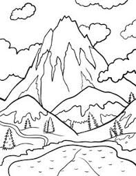 Small Picture Drawn mountain coloring page Pencil and in color drawn mountain