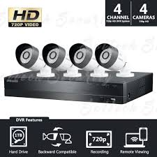 (Seller Refurbished) Samsung SDH-B3040 4 Channel 720p AHD Security System with 1TB HDD and cameras 4Ch. Analog HD Camera (Refurbished