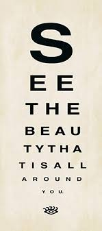 Eye Chart Poster See The Beauty 8x18 Inspirational Poster Eye Chart Art Print