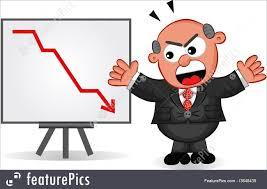 Chart Cartoon Boss Cartoon Businessman Cartoon Boss Man Angry At Sales Or Profit Chart Going Down