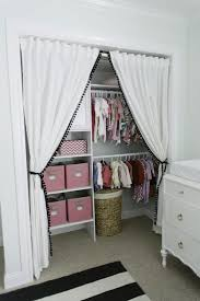 Closet Without Doors...curtains In The Bathroom Closet