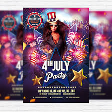 Free Flier Template 4th Of July Party Free Club And Party Flyer Psd Template