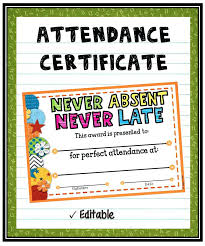 Customize Attendance Certificate Templates Online Format Of For ...