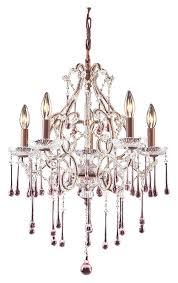elk 4012 5rs once rust finish 20 inch diameter medium 5 candle rose crystal chandelier loading zoom