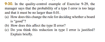here is the link for exercise solution com 9 30 in the quality control example of exercise 9 29
