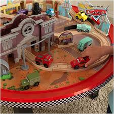 kidkraft disney cars cadillac range train set and table