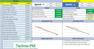 Agile Dashboard Excel Templates Project Management