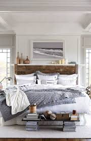 the bedding is from lexington clothing co as is the area rug the white walls makes this space feel bright and airy paint color