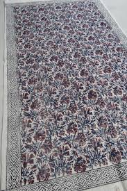 block printed cotton dhurrie rugs india dr5