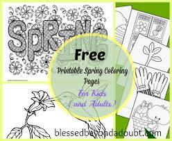20 Free Printable Spring Coloring Sheets