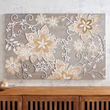 blooming vines mosaic wall panel pier